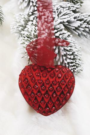 Heart-Shaped Christmas Decoration,Close-Up