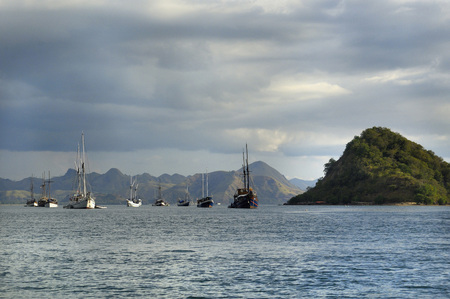 Asia,Indonesia,Labuhanbajo,Flores,Fisherboats