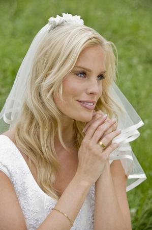 Portrait Of A Bride,Smiling,Looking Away