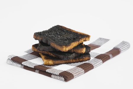 Burnt Toast On Dish Towel