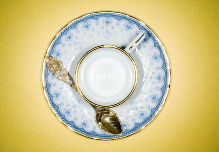 Collectors Cup With Silver Spoon,Elevated View LANG_EVOIMAGES