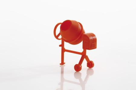 Toy Concrete Mixer On White Background