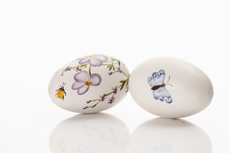 Easter Eggs On White Background LANG_EVOIMAGES