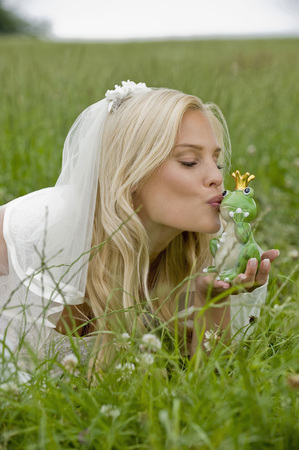 Bride Kissing Toy Frog