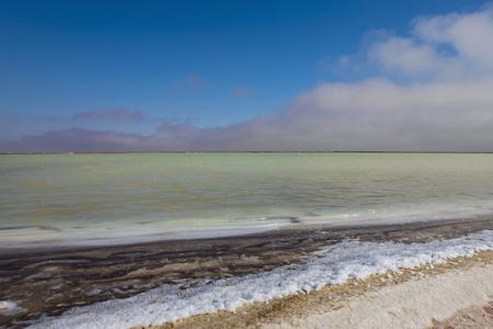 Africa,Namibia,Namib Desert,Atlantic Ocean,View Of Saline At Walvis Bay LANG_EVOIMAGES