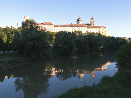 Austria,View Of Melk Abbey With River LANG_EVOIMAGES