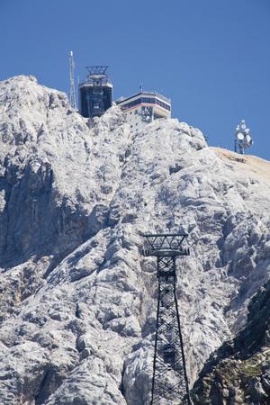 Austria,Tyrol,Ehrwald,Zugspitze,Tyrolian Zugspitzbahn Cable Car Station