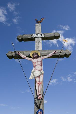 Austria,Salzkammergut,Fuschl,View Of Cross Against Cloudy Sky
