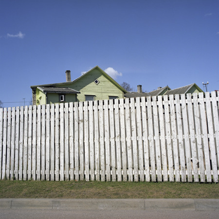 Estonia,Wooden House Behind A Fence