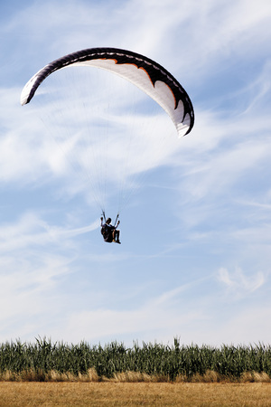 Germany,Moselle,Person Parachuting In The Sky