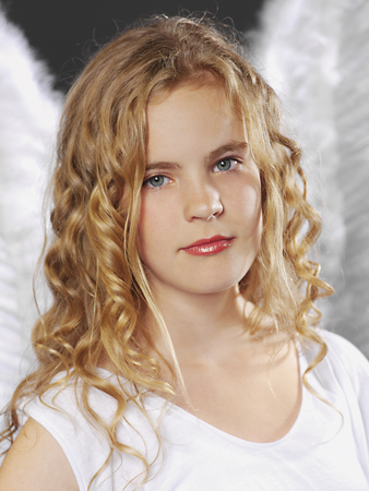 Portrait Of Girl As Angel,Close Up