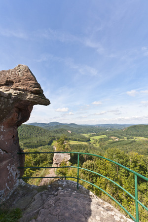 Germany,Rhineland-Palatinate,Palatinate,View Of Drachenfels Ruin In Palatine Forest LANG_EVOIMAGES