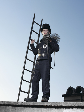 Germany,Chimney Sweep With Broom And Ladder LANG_EVOIMAGES