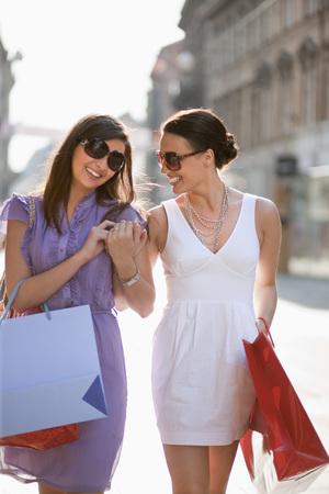 Croatia,Zagreb,Young Women With Shopping Bags,Smiling