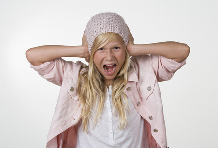 Girl (12-13 Years) Screaming,Portrait