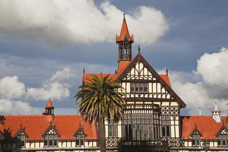 New Zealand,North Island,Rotorua,View Of Historical Bathhouse