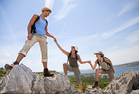 Croatia,Zadar,Friends Hiking