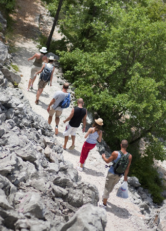 Croatia,Zadar,Friends Hiking