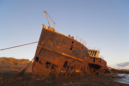 South America,Chile,Patagonia,View Of Ship Wreck