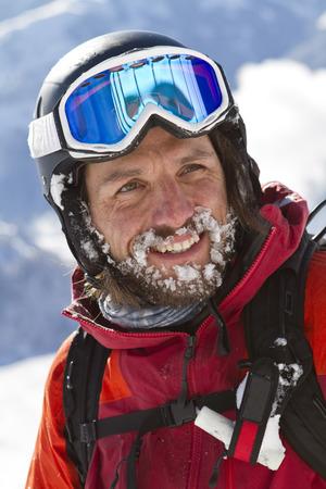 Austria,Tyrol,Kitzbuehel,Close-Up Of Mature Man In Skiwear