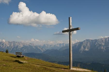 Germany,Bavaria,Garmisch-Partenkirchen,View From Wank To Wetterstein And Karwendel