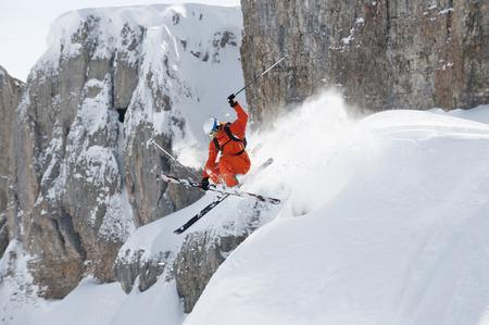 Austria,Kleinwalsertal,Man Jumping On Ski