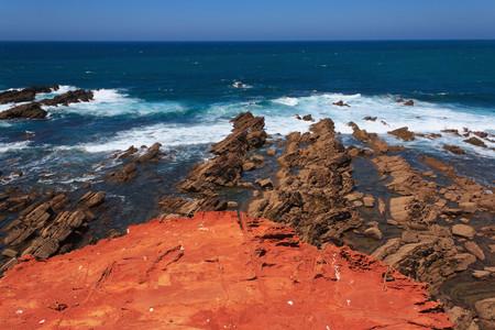 Portugal,Algarve,Sagres,View Of Praia Do Castelejo LANG_EVOIMAGES