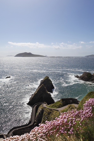 Ireland,County Kerry,Dingle Peninsula,View Of Dunmore Head And Blasket Islands