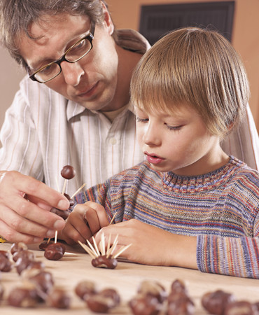 Father And Son Doing Craft LANG_EVOIMAGES