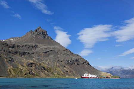 South Atlantic Ocean,United Kingdom,British Overseas Territories,South Georgia,Polar Star Icebreaker Cruise Ship At Grytviken