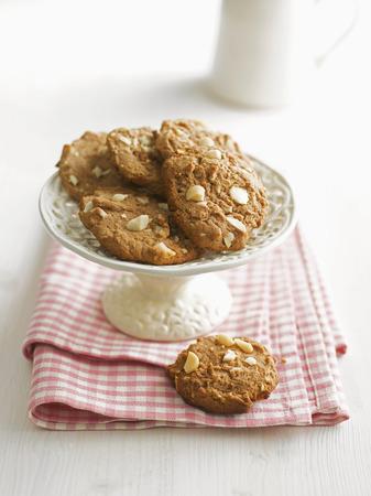 Nut Cookies On Dessert Stand