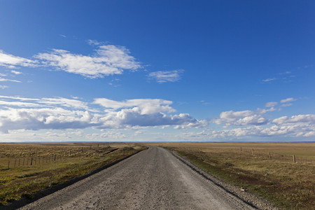 street shot: South America,Chile,Tierra Del Fuego,View Of Road