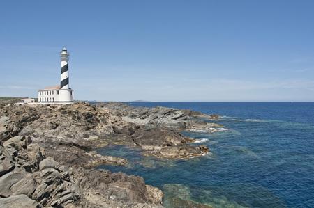 Spain,Balears,Menorca,View Of Lighthouse