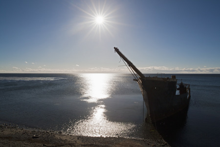 South America,Chile,View Of Ship Wreck In Water