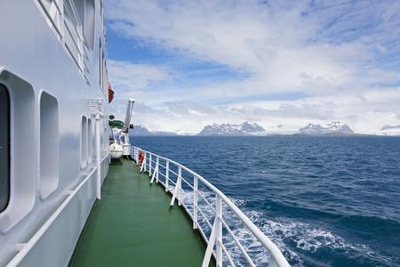 South Atlantic Ocean,United Kingdom,British Overseas Territories,South Georgia,Polar Star Icebreaker Cruise Ship On Sea