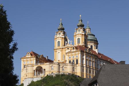 Austria,Lower Austrai,Wachau,Mostviertel,Waldviertel,View Of Stift Melk Abbey