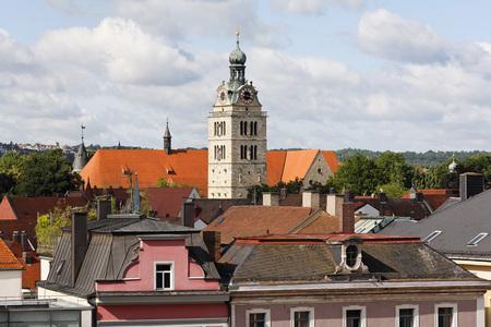 Germany,Bavaria,Upper Palatinate,Regensburg,View Of St Emmeram Church LANG_EVOIMAGES