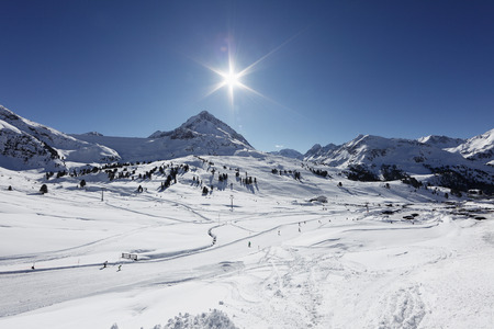 Austria,Tyrol,View Of Kuehtai-Sattel Ski Area And Stubai Alps LANG_EVOIMAGES