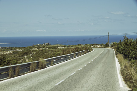 Spain,Denia,View Of Empty Road LANG_EVOIMAGES