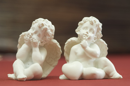 Close Up Of Two Porcelain Puttos