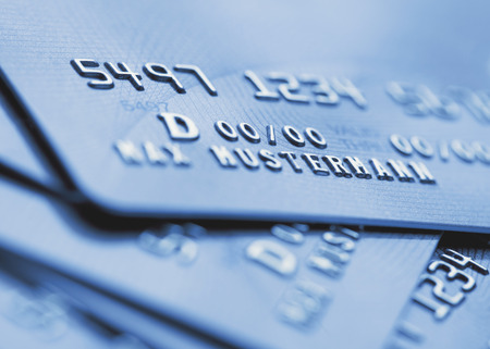 Sample Of Credit Cards,Close Up