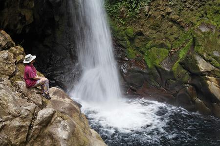 Costa Rica,Guanacaste,Rincon De La Vieja,Hacienda Guachipelin,View Of Waterfall
