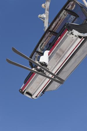 Italy,Trentino-Alto Adige,Alto Adige,Bolzano,Seiser Alm,Senior Woman Travelling In Ski Lift LANG_EVOIMAGES