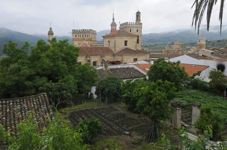 Europe,Spain,Extremadura,Guadalupe,View Of Real Monasterio De Santa Maria De Guadalupe