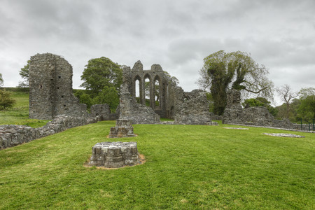 United Kingdom,Northern Ireland,County Down,Downpatrick,View Of Ruined Inch Abbey LANG_EVOIMAGES
