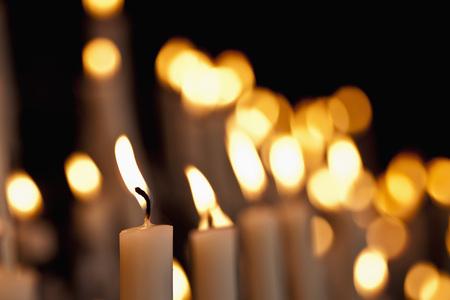 Germany,North Rhine-Westphalia,Kevelaer,Close Up Of Burning Devotional Candles LANG_EVOIMAGES