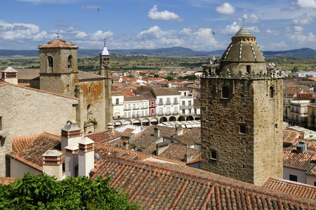 Europe,Spain,Extremadura,Trujillo,View Of Narrow Lane In Historic Old Town