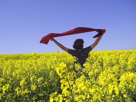 Bavaria,Senior Woman In Granola Field