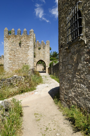 Europe,Spain,Extremadura,Trujillo,View Of Narrow Lane In Historic City Wall In Old Town LANG_EVOIMAGES