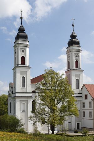 Germany,Bavaria,Swabia,Allgaeu,Irsee,View Of Abbey LANG_EVOIMAGES